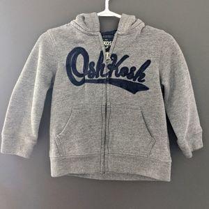 Oshkosh B'gosh grey zip up hoodie